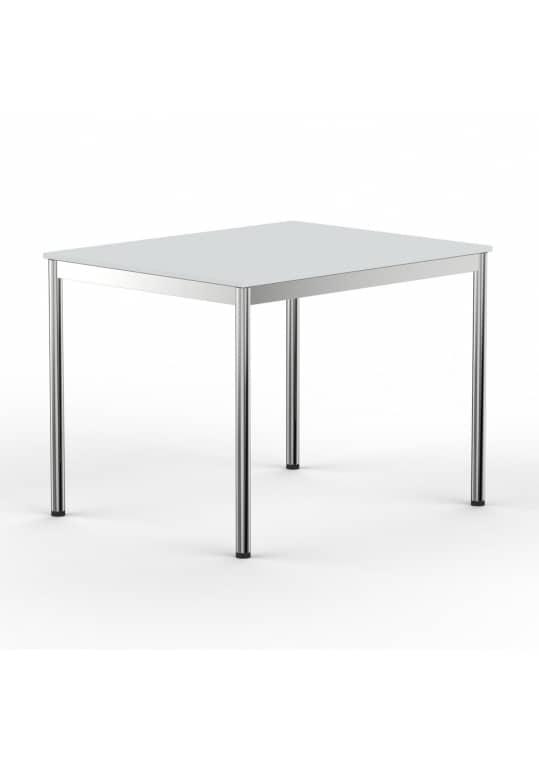 Schreibtisch Konferenztisch 100 x 90cm lichtgrau