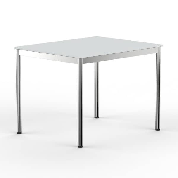 Schreibtisch Konferenztisch 100 x 75cm lichtgrau