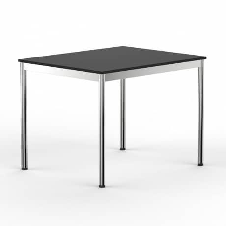 Schreibtisch Konferenztisch 100 x 80cm schwarz