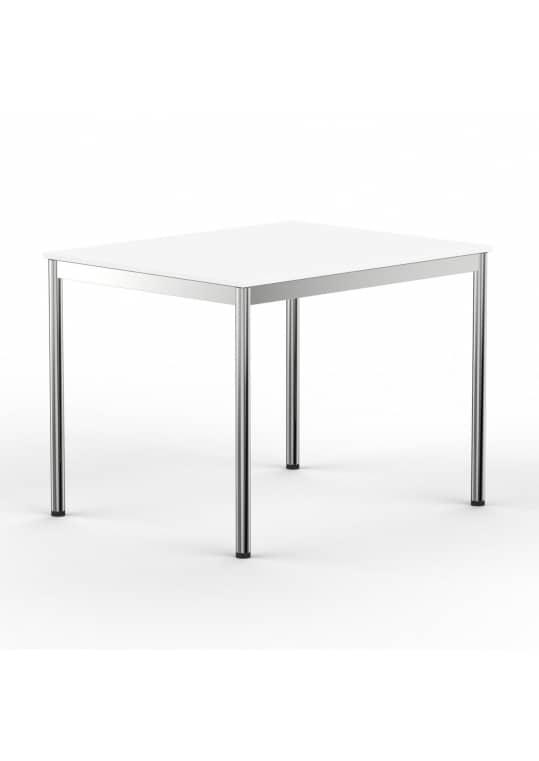 Schreibtisch Konferenztisch 120 x 100cm weiss