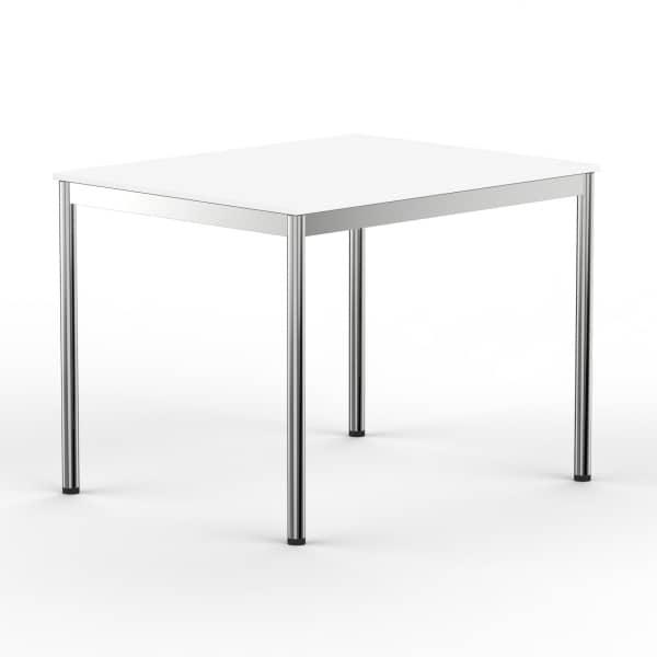 Schreibtisch Konferenztisch 100 x 80cm weiss