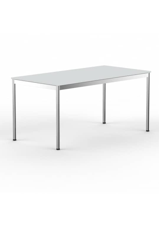 Schreibtisch Konferenztisch 160 x 90cm lichtgrau