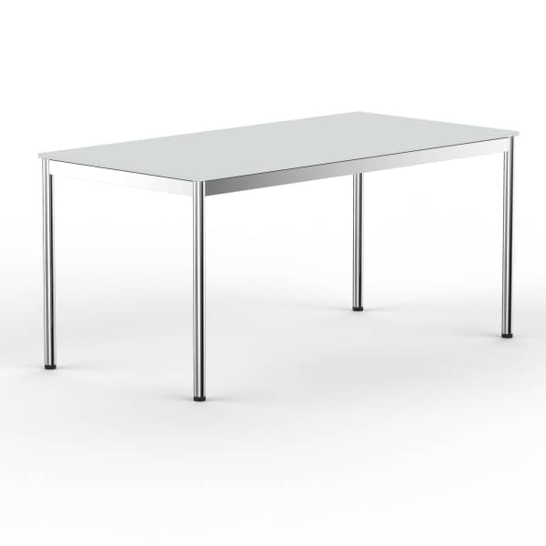 Schreibtisch Konferenztisch 120 x 75cm lichtgrau