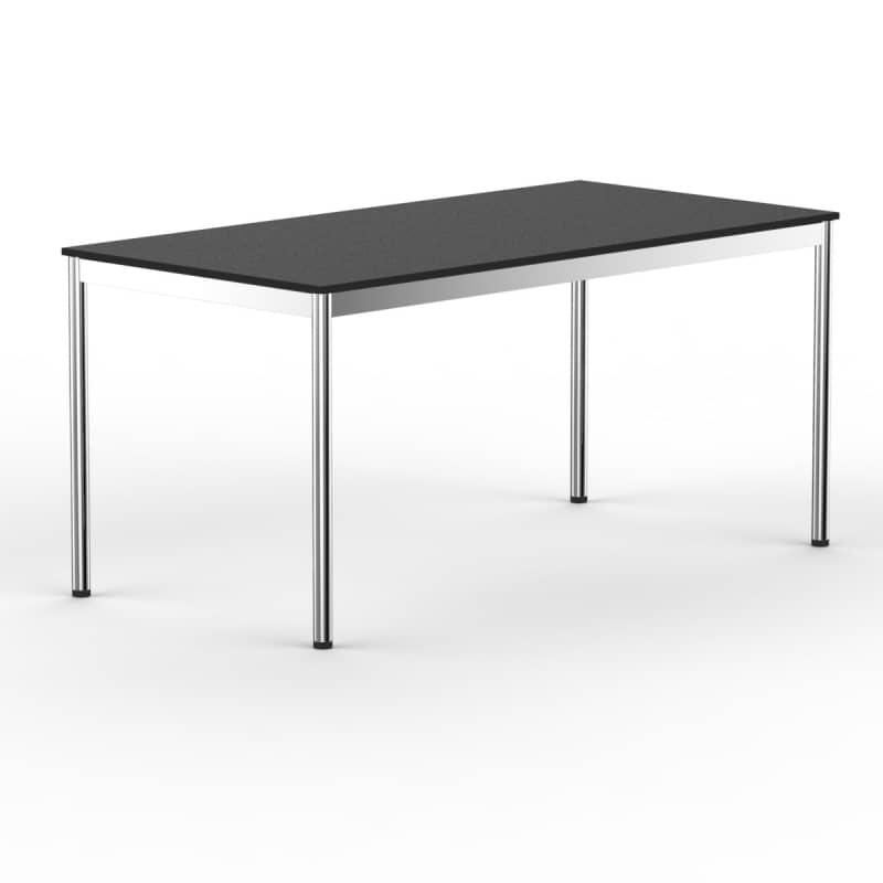 schreibtisch konferenztisch 200 x 60cm schwarz versee. Black Bedroom Furniture Sets. Home Design Ideas