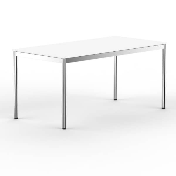 Schreibtisch Konferenztisch 160 x 90cm weiss