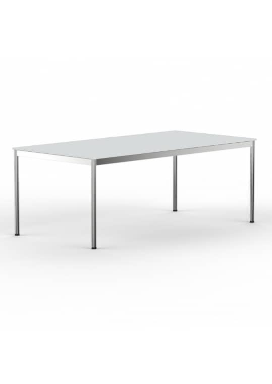 Schreibtisch Konferenztisch 200 x 90cm lichtgrau