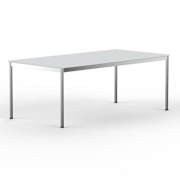 Schreibtisch Konferenztisch 180 x 90cm lichtgrau