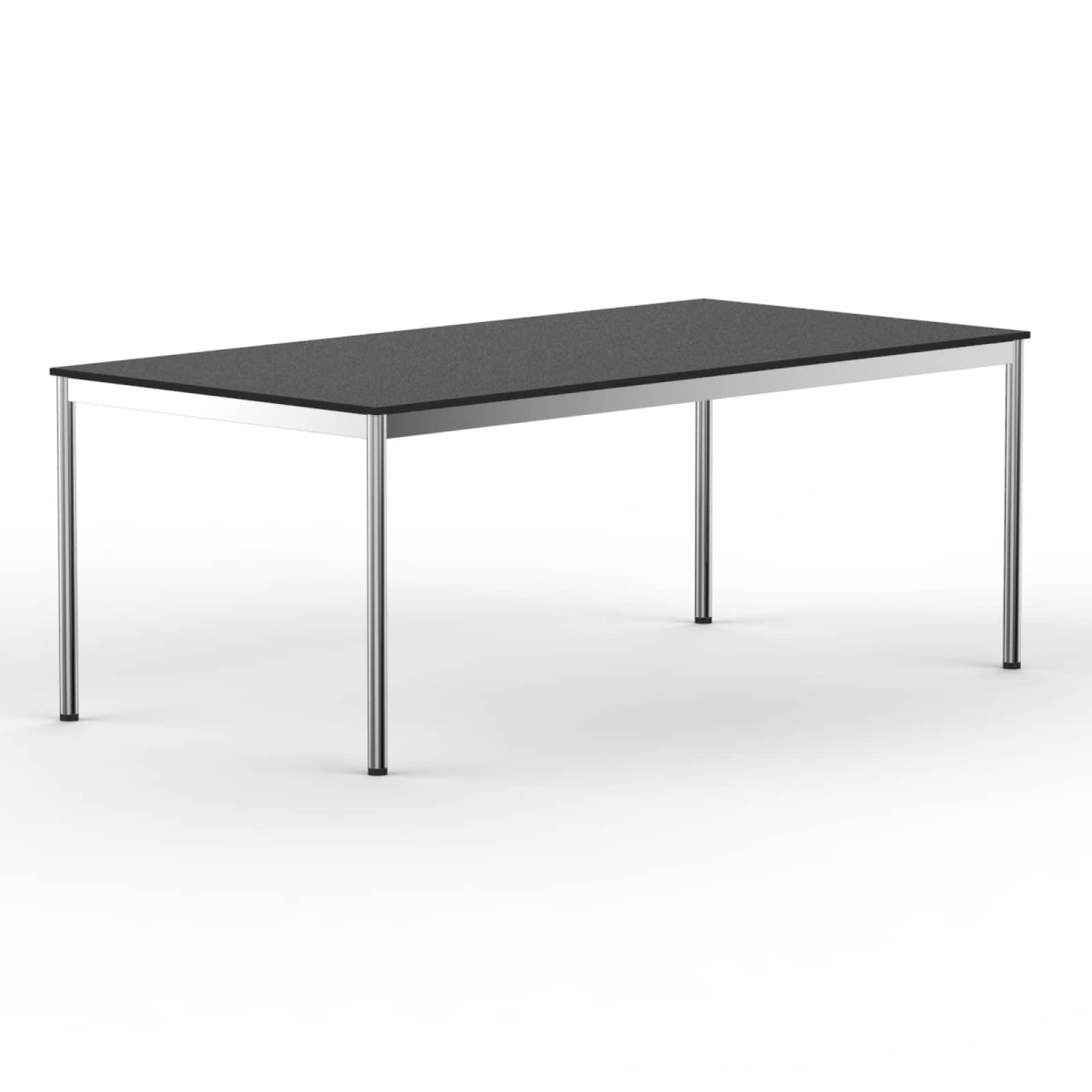 schreibtisch konferenztisch 200x90cm schwarz versee. Black Bedroom Furniture Sets. Home Design Ideas