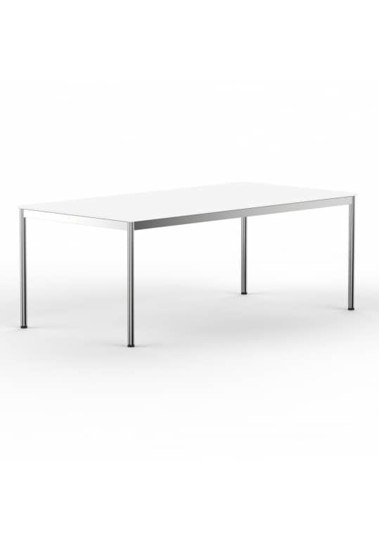 Schreibtisch Konferenztisch 180 x 100cm weiss