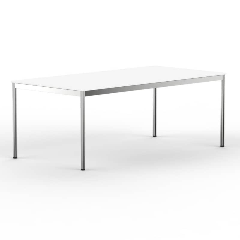 Schreibtisch konferenztisch 180 x 90cm weiss versee for Schreibtisch 90 x 180