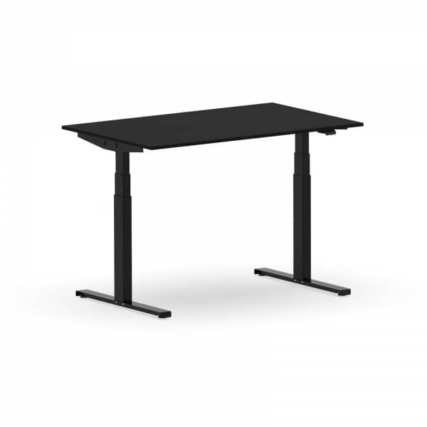 Elektrischer Schreibtisch VES1 - 120 x 90cm Gestell Schwarz Dekor Schwarz
