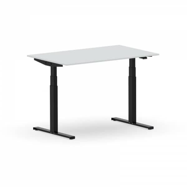 Elektrischer Schreibtisch VES1 - 120 x 90cm Gestell Schwarz Dekor Lichtgrau
