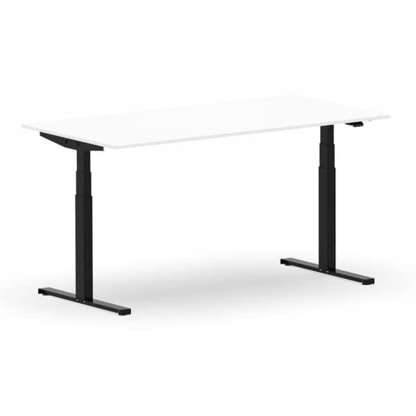 Elektrischer Schreibtisch VES1 - 150 x 75cm Gestell Schwarz Dekor Weiss