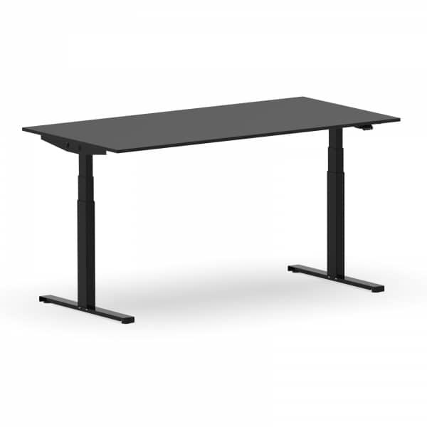 Elektrischer Schreibtisch VES1 - 160 x 100cm Gestell Schwarz Dekor Schwarz