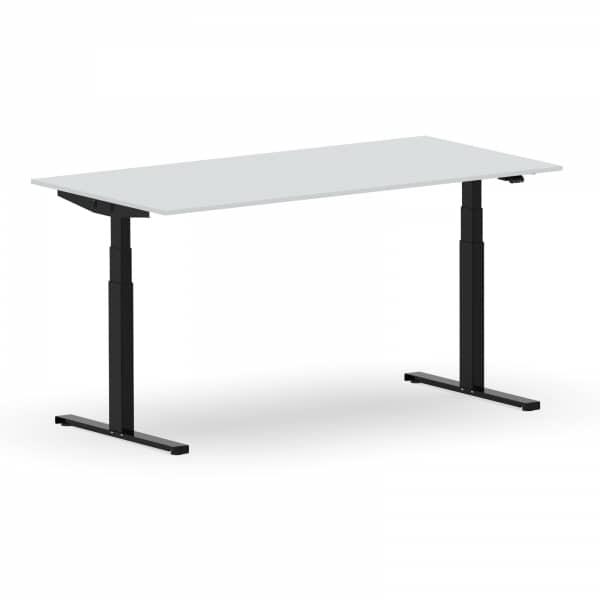 Elektrischer Schreibtisch VES1 - 160 x 75cm Gestell Schwarz Dekor Lichtgrau