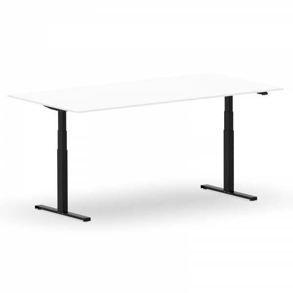 Elektrischer Schreibtisch VES1 - 180 x 75cm Gestell Schwarz Dekor Weiss
