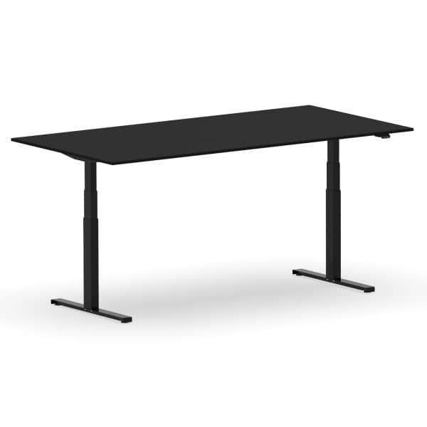 Elektrischer Schreibtisch VES1 - 200 x 75cm Gestell Schwarz Dekor Schwarz