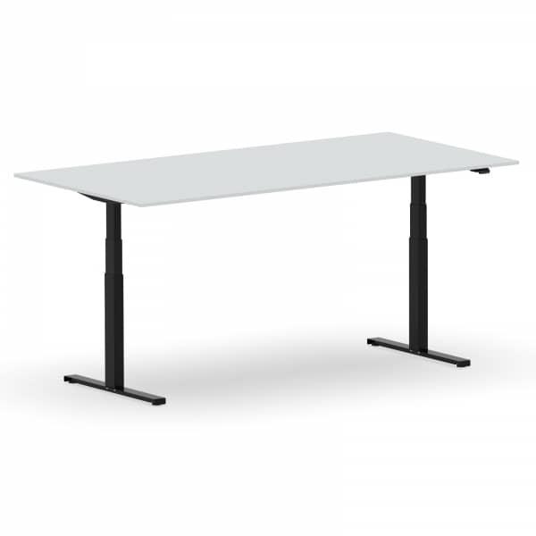 Elektrischer Schreibtisch VES1 - 200 x 80cm Gestell Schwarz Dekor Lichtgrau