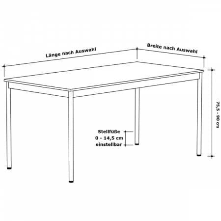 Schreibtisch konferenztisch 180 x 60cm versee for Schreibtisch 90 x 180