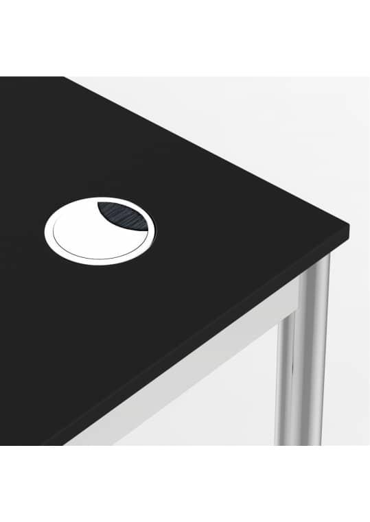 Schreibtisch Konferenztisch 100 x 90cm schwarz