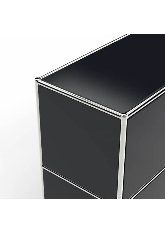 Lowboard 01002 - 2 x Klappe Metall graphitschwarz