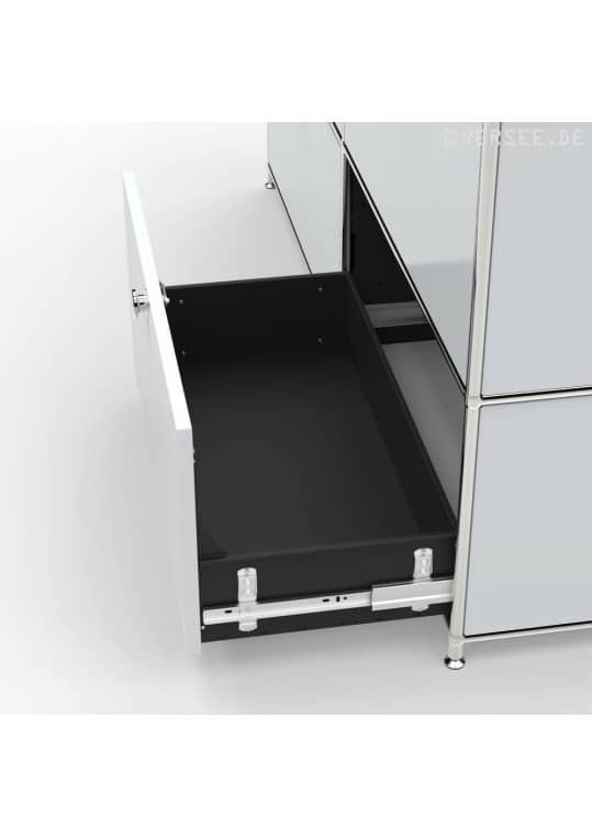 Sideboard 02103 - 6 x Schublade Metall lichtgrau