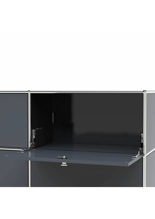 Lowboard 01002 - 2 x Klappe Metall anthrazitgrau