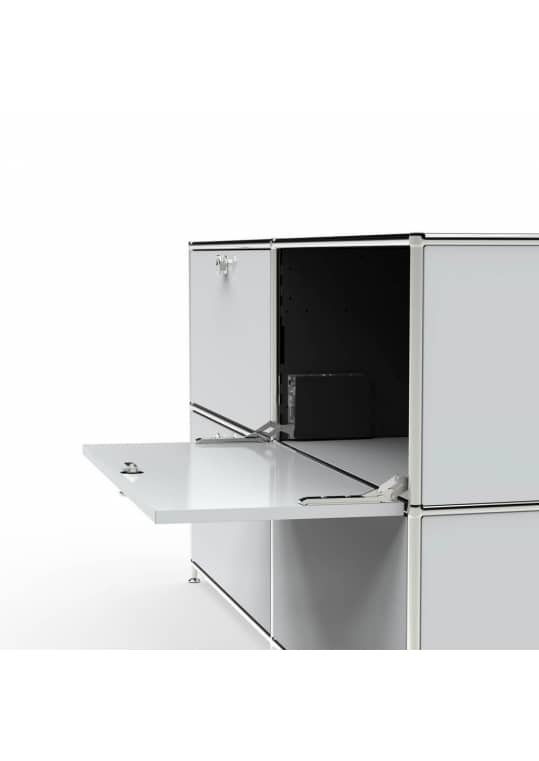 Sideboard 02003 - 6 x Klappe Metall lichtgrau
