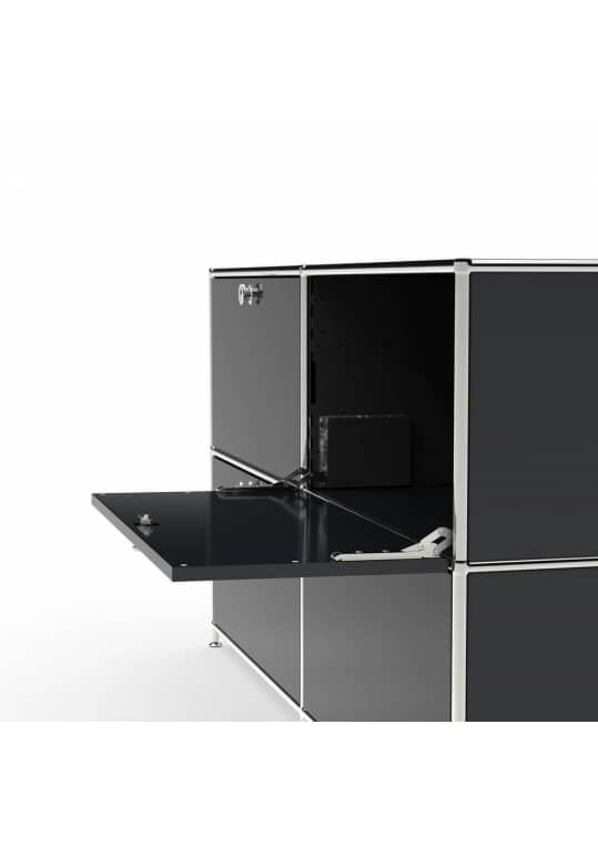 Lowboard 01004 - 4 x Klappe Metall graphitschwarz