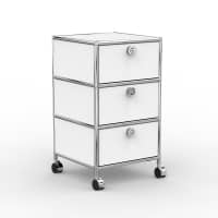 Rollcontainer - Design 40cm - 3xES (AWR) - Metall - Signalweiss (RAL 9003)