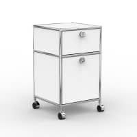 Rollcontainer - Design 40cm - 1xES 1xES2 (AWR) - Metall - Signalweiss (RAL 9003)