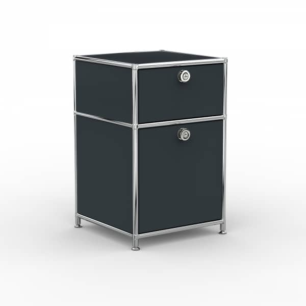 Standcontainer - Design 40cm - 1xES 1xHG (ASF) - Metall - Anthrazitgrau (RAL 7016)