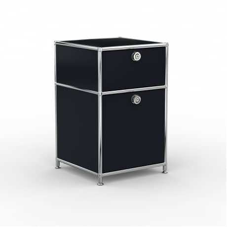Standcontainer - Design 40cm - 1xES 1xHG (ASF) - Metall - Graphitschwarz (RAL 9011)
