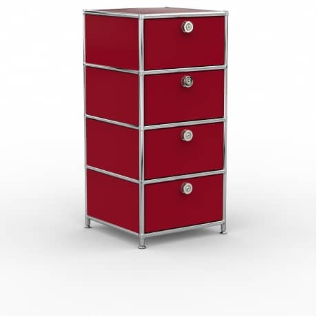 Standcontainer - Design 40cm - 4xES (ASF) - Metall - Rubinrot (RAL 3003)