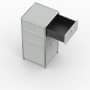 Standcontainer - Design 40cm - 2xES 1xHG (ASF) - Metall - Lichtgrau (RAL 7035)