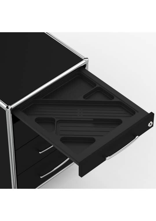 Rollcontainer - Design 60cm - 4 Schubladen (AWR) - Holz - Dekor Schwarz