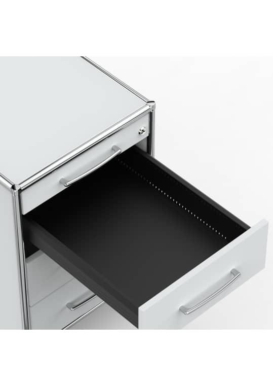 Rollcontainer - Design 80cm - 4 Schubladen (AWR) - Holz - Dekor Lichtgrau