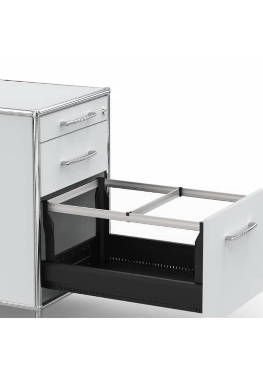 Standcontainer - Design 60cm - Hängeregistratur (ASF) - Holz - Dekor Lichtgrau
