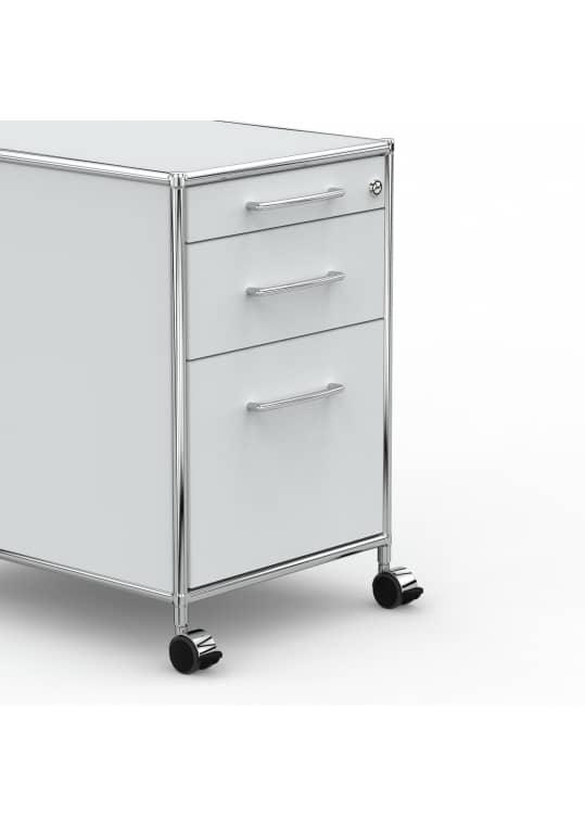 Rollcontainer - Design 80cm - Hängeregistratur (AHR) - Holz - Dekor Lichtgrau