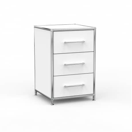 Standcontainer - Design 40cm - 3 Schubladen (ASF) - Holz - Dekor Weiss