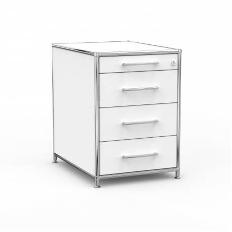 Standcontainer - Design 60cm - 4 Schubladen (ASF) - Holz - Dekor Weiss