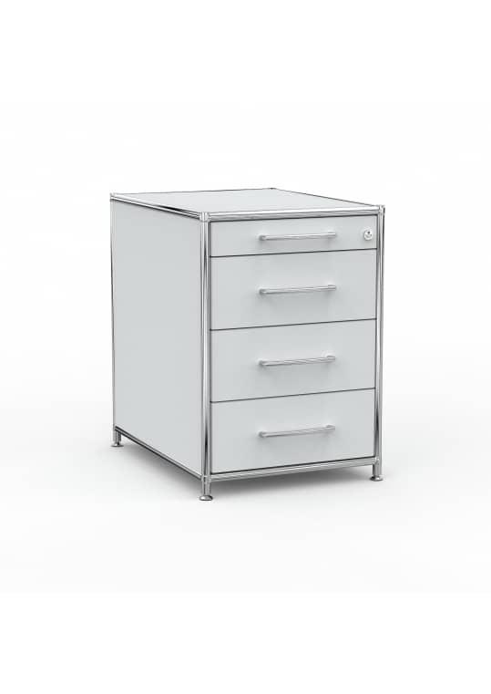 Standcontainer - Design 60cm - 4 Schubladen (ASF) - Holz - Dekor Lichtgrau