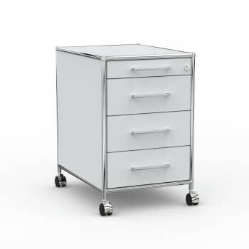 Rollcontainer - Design 60cm - 4 Schubladen (AWR) - Holz - Dekor Lichtgrau