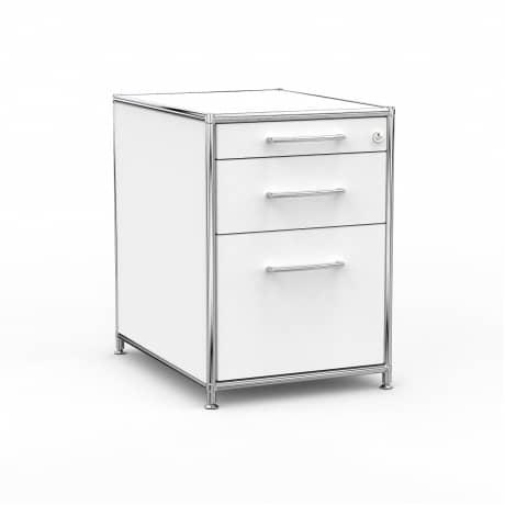 Standcontainer - Design 60cm - Hängeregistratur (ASF) - Holz - Dekor Weiss