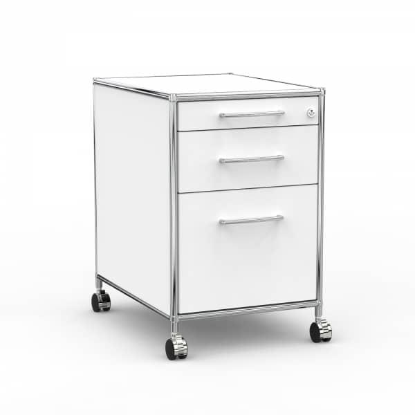 Rollcontainer - Design 60cm - Hängeregistratur (AWR) - Holz - Dekor Weiss