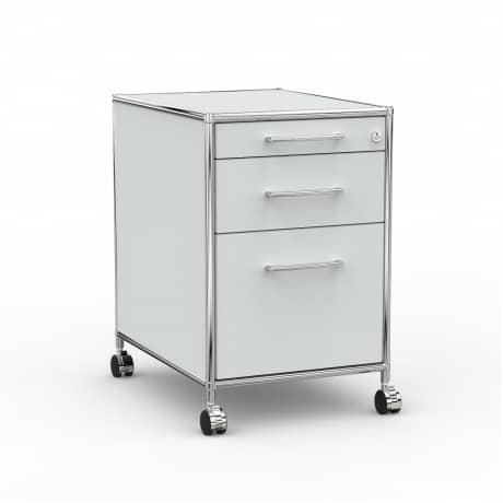 Rollcontainer - Design 60cm - Hängeregistratur (AWR) - Holz - Dekor Lichtgrau