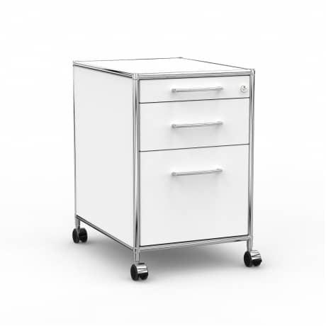 Rollcontainer - Design 60cm - Hängeregistratur (AHR) - Holz - Dekor Weiss