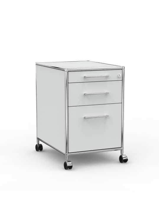 Rollcontainer - Design 60cm - Hängeregistratur (AHR) - Holz - Dekor Lichtgrau