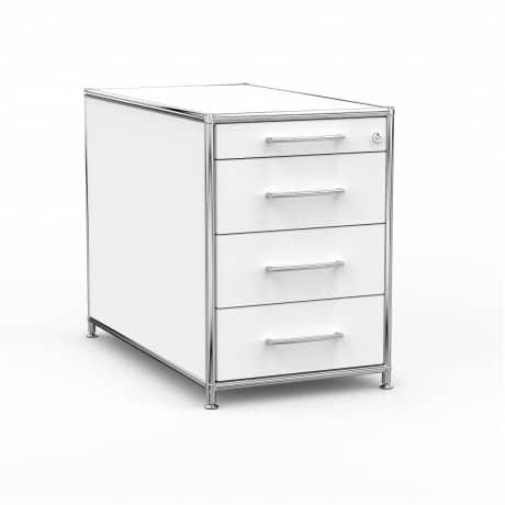 Standcontainer - Design 80cm - 4 Schubladen (ASF) - Holz - Dekor Weiss