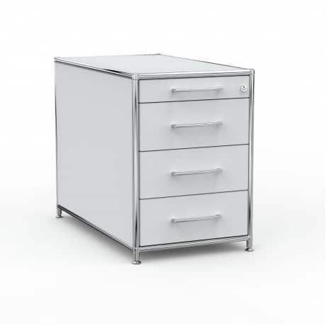 Standcontainer - Design 80cm - 4 Schubladen (ASF) - Holz - Dekor Lichtgrau